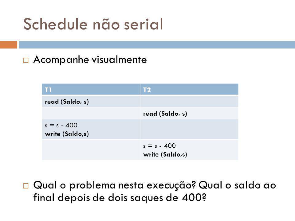 Schedule não serial Acompanhe visualmente