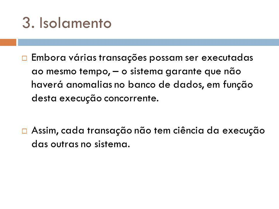 3. Isolamento