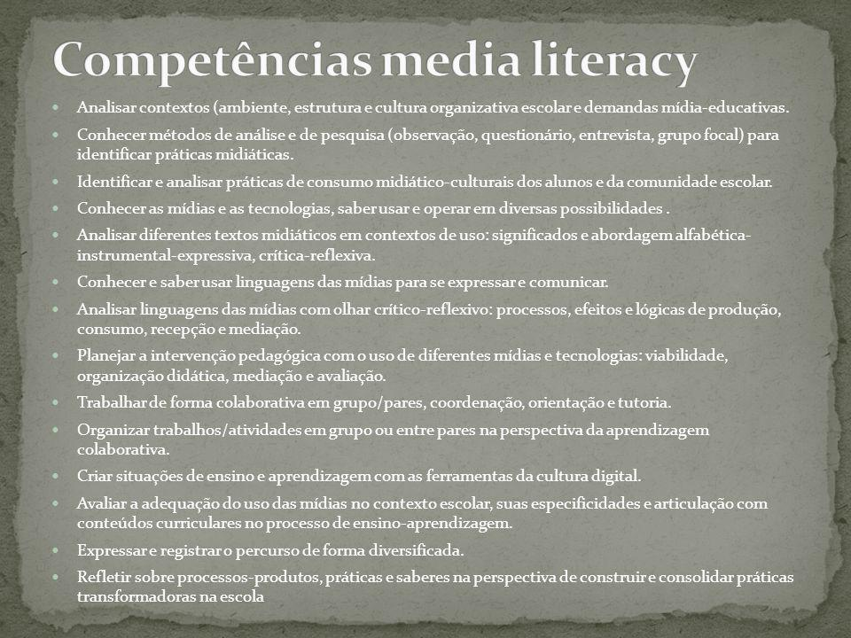 Competências media literacy