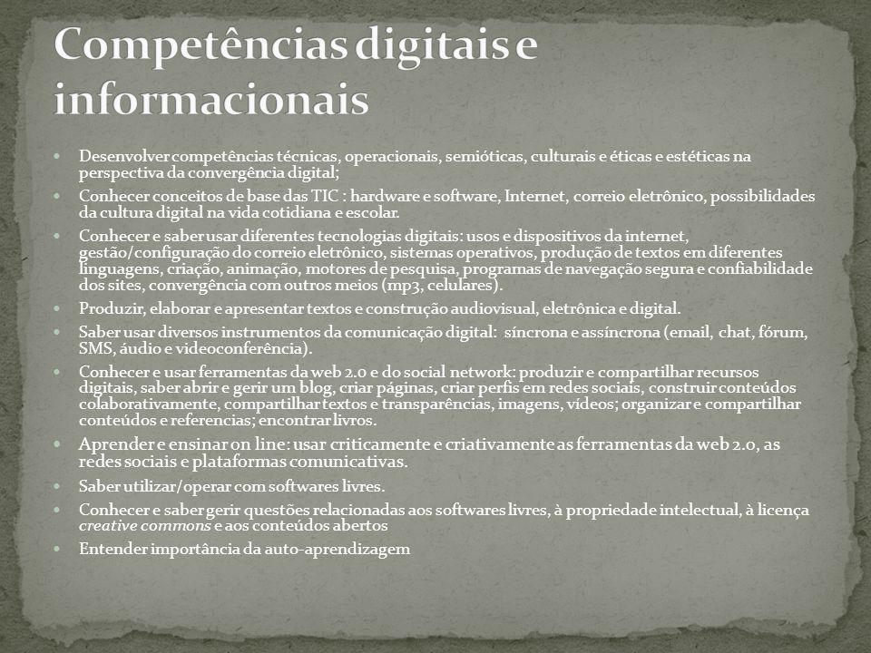 Competências digitais e informacionais