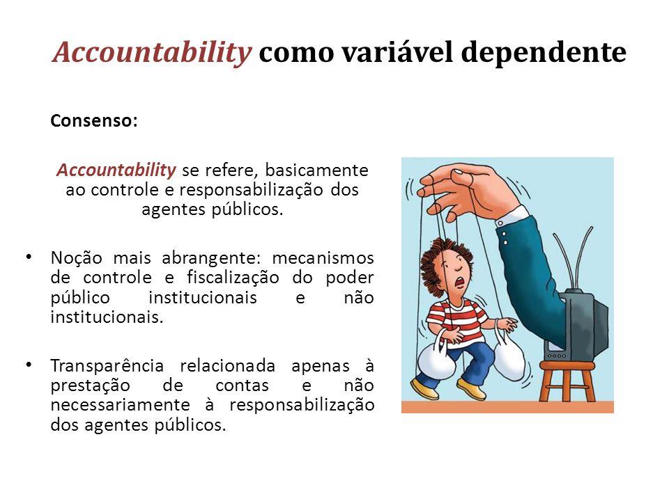 Accountability como variável dependente
