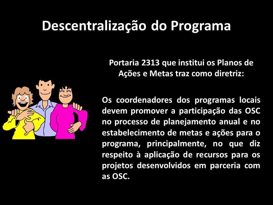 Descentralização do Programa