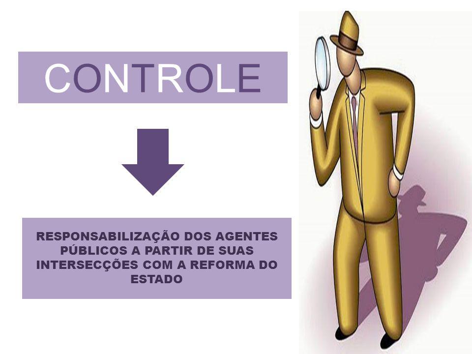 CONTROLE RESPONSABILIZAÇÃO DOS AGENTES PÚBLICOS A PARTIR DE SUAS INTERSECÇÕES COM A REFORMA DO ESTADO.