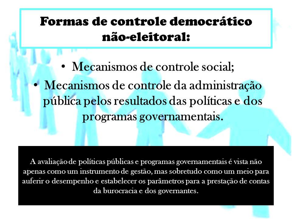 Mecanismos de controle social;