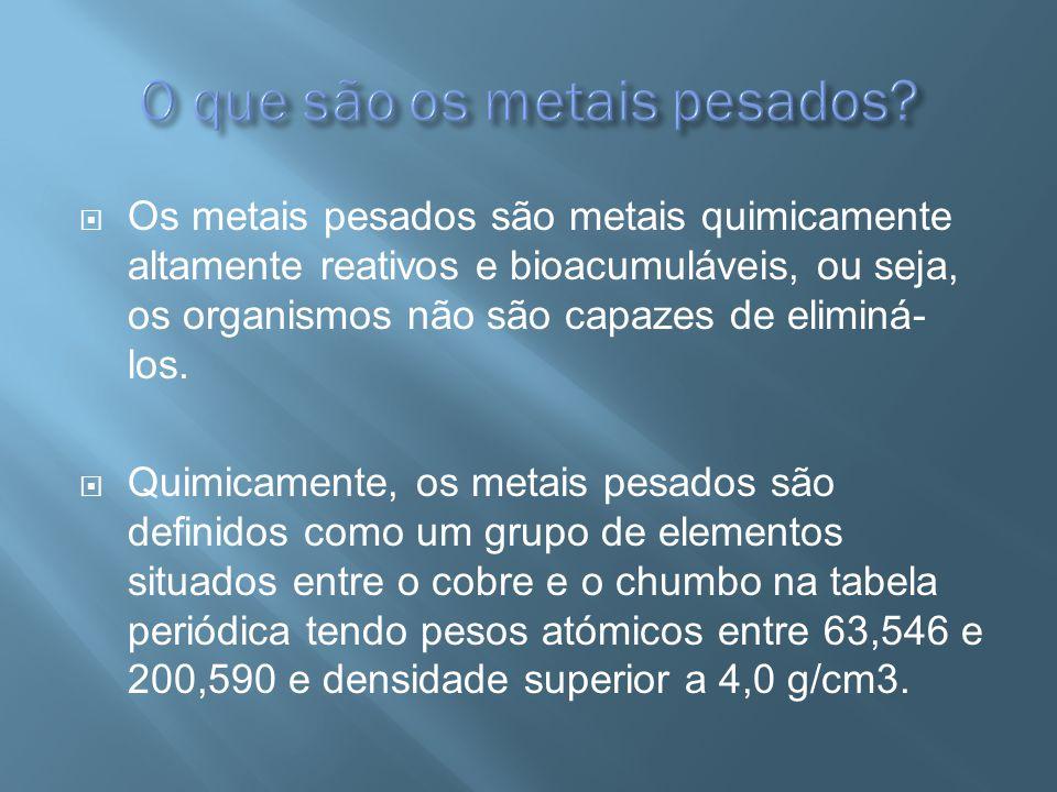 O que são os metais pesados