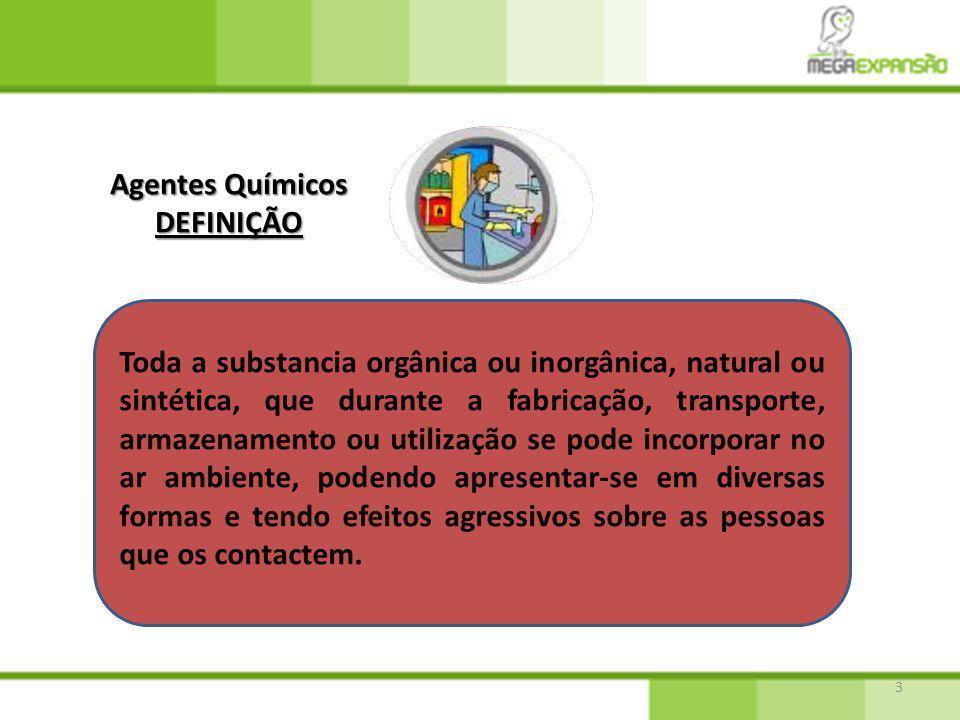 Agentes Químicos DEFINIÇÃO.