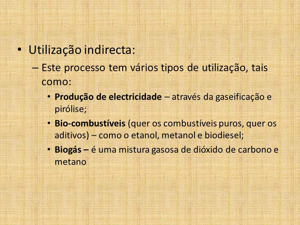 Utilização indirecta: