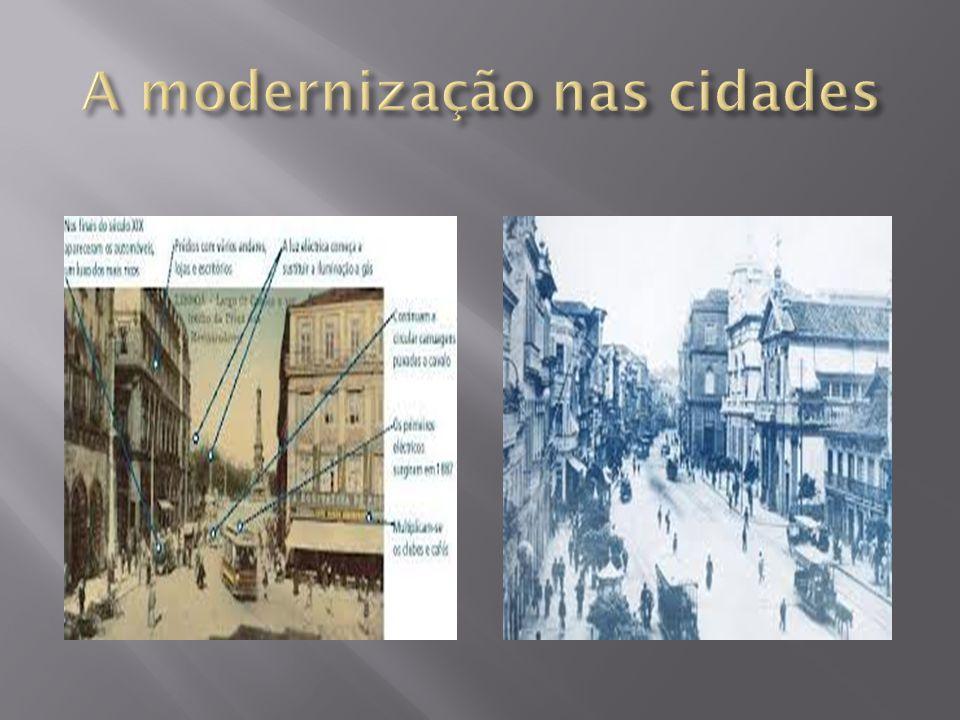 A modernização nas cidades