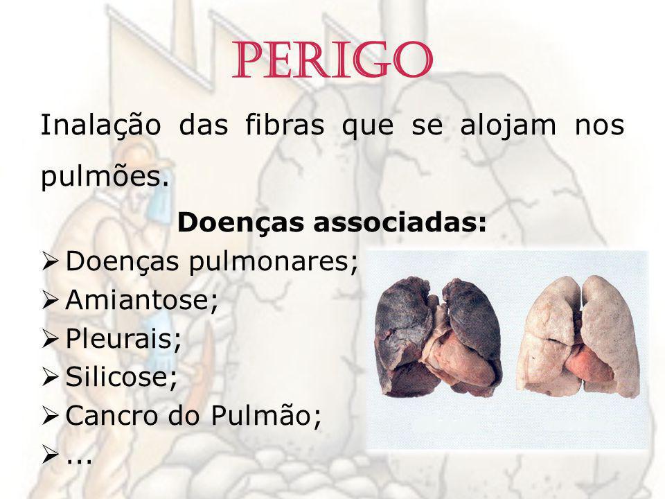 Perigo Inalação das fibras que se alojam nos pulmões.