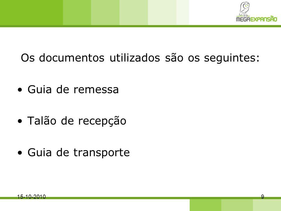 Os documentos utilizados são os seguintes: