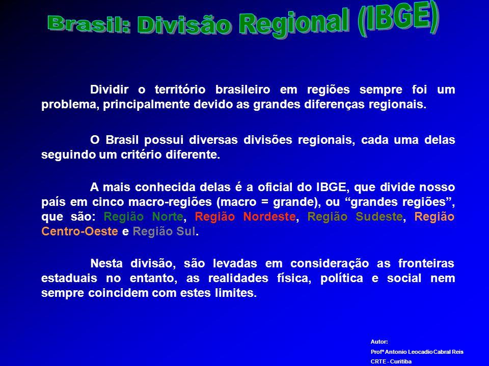 Brasil: Divisão Regional (IBGE)