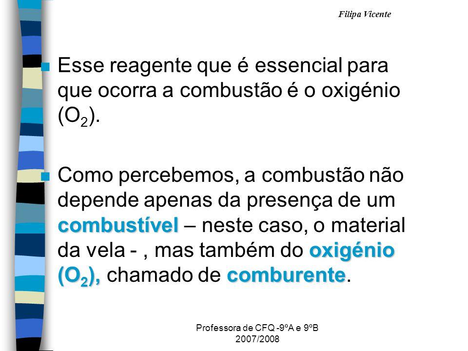 Professora de CFQ -9ºA e 9ºB 2007/2008