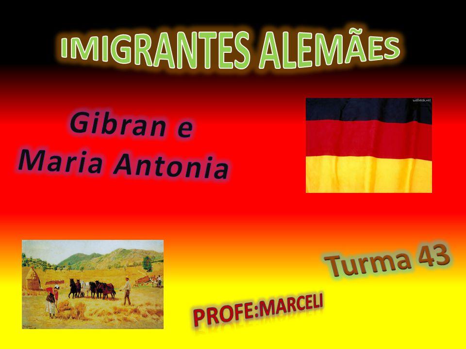 IMIGRANTES ALEMÃES Gibran e Maria Antonia Turma 43