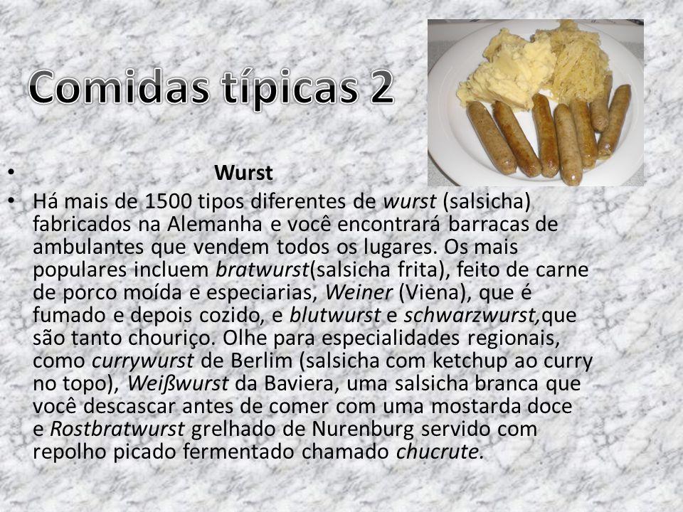 Comidas típicas 2 Wurst.