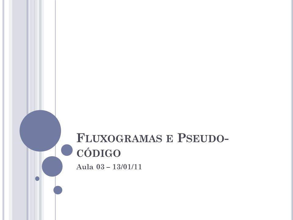 Fluxogramas e Pseudo-código
