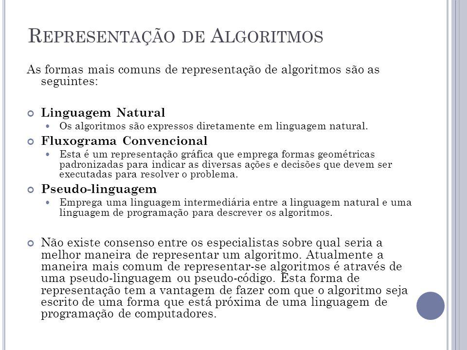 Representação de Algoritmos