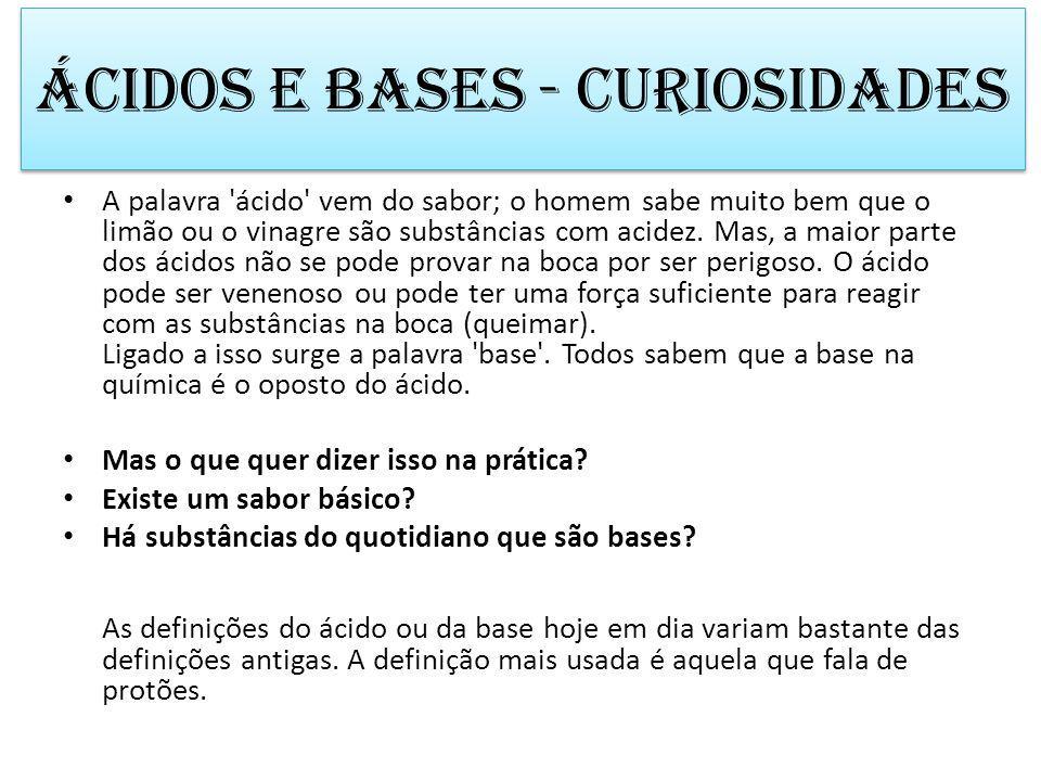 Ácidos e bases - curiosidades