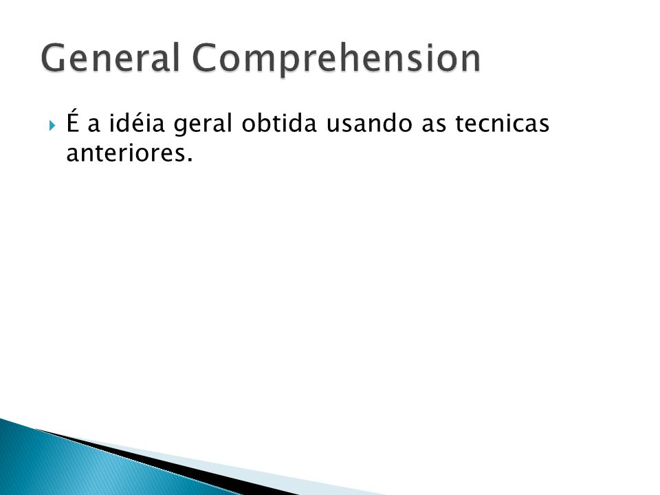 General Comprehension