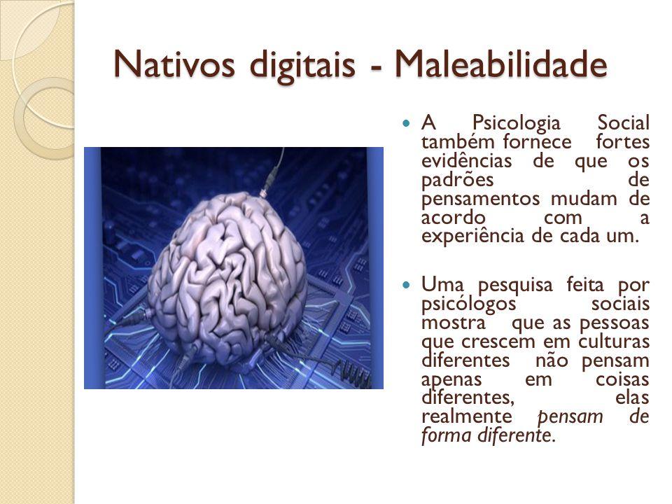Nativos digitais - Maleabilidade