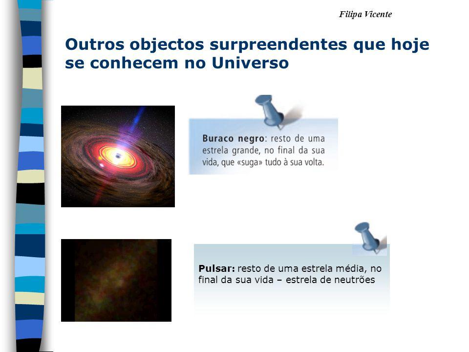 Outros objectos surpreendentes que hoje se conhecem no Universo