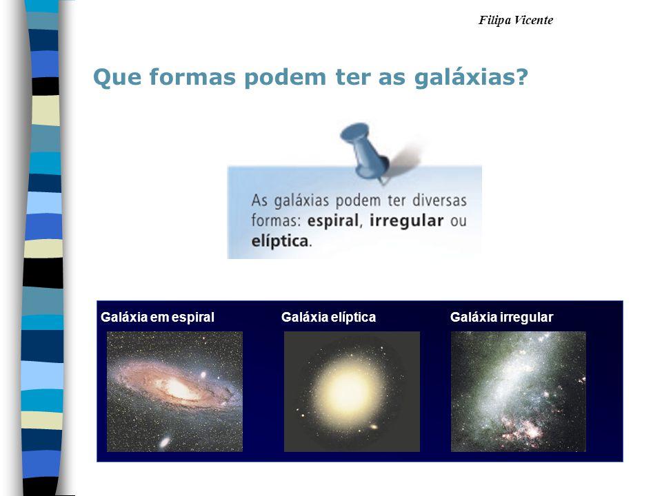 Que formas podem ter as galáxias