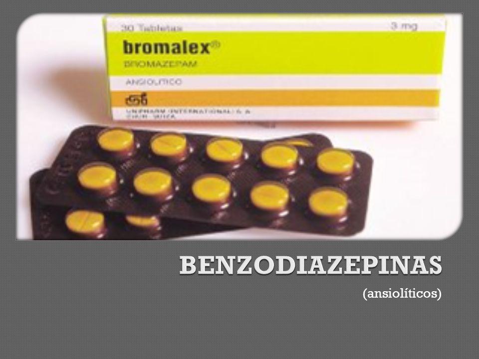 BENZODIAZEPINAS (ansiolíticos)