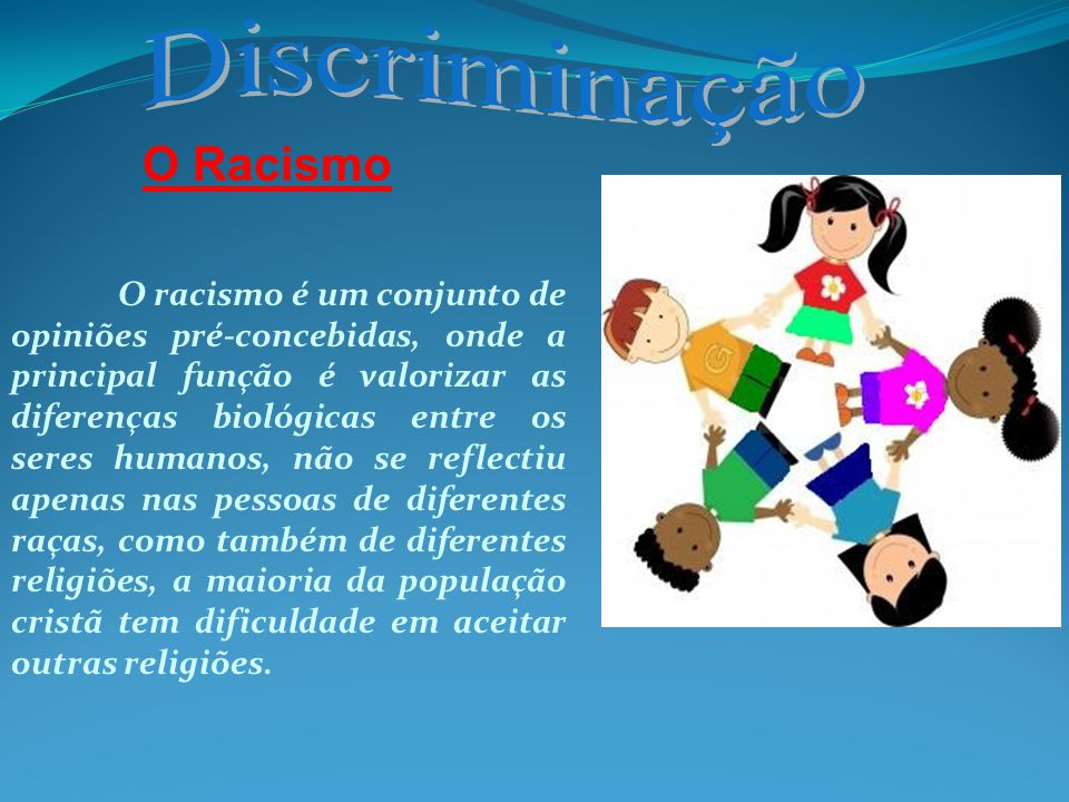 Discriminação O Racismo
