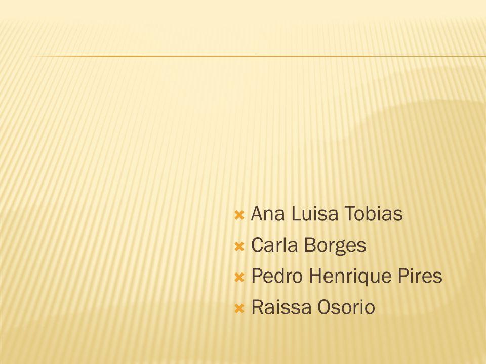Ana Luisa Tobias Carla Borges Pedro Henrique Pires Raissa Osorio