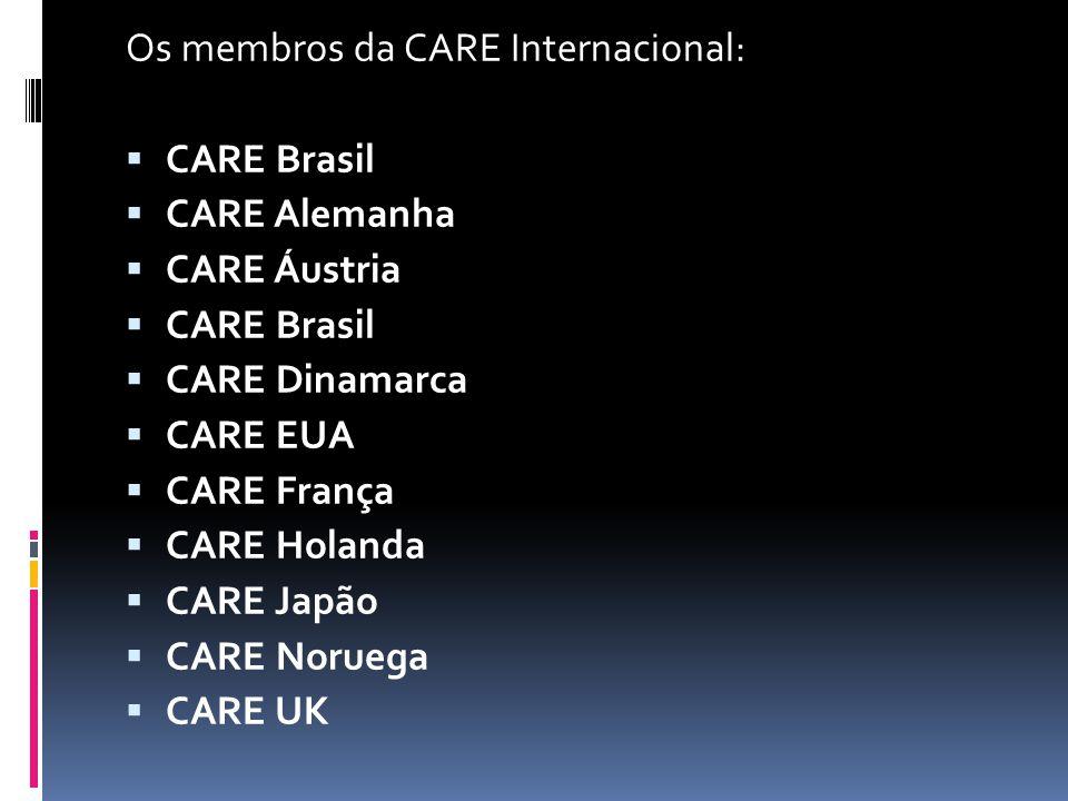 Os membros da CARE Internacional:
