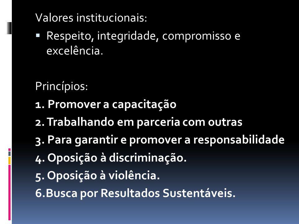 Valores institucionais:
