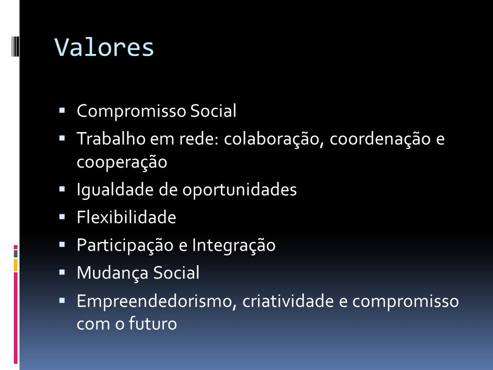 Valores Compromisso Social