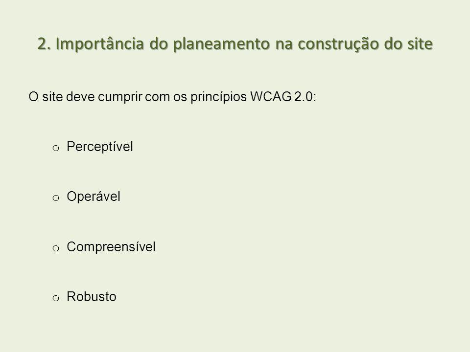 2. Importância do planeamento na construção do site