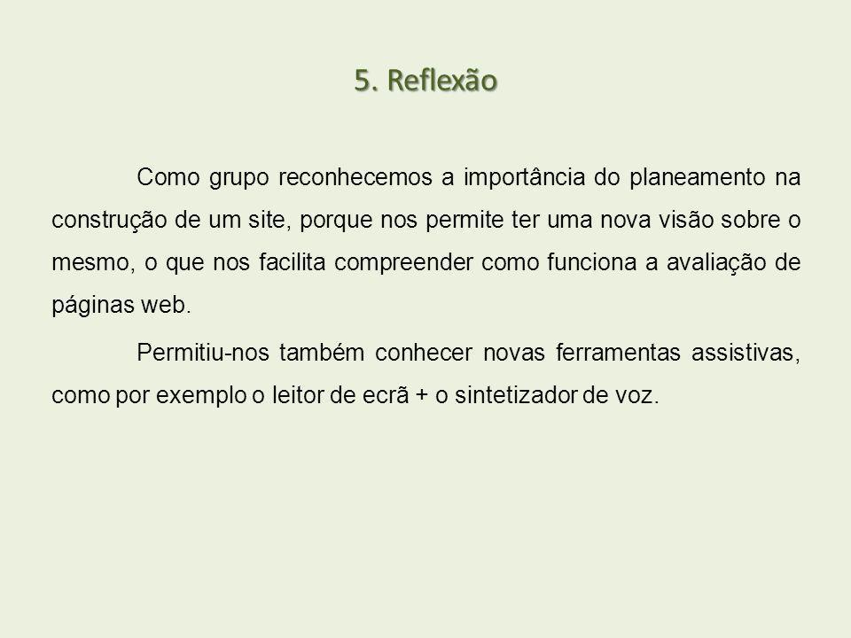 5. Reflexão