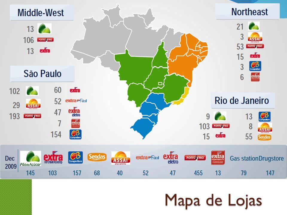 Mapa de Lojas