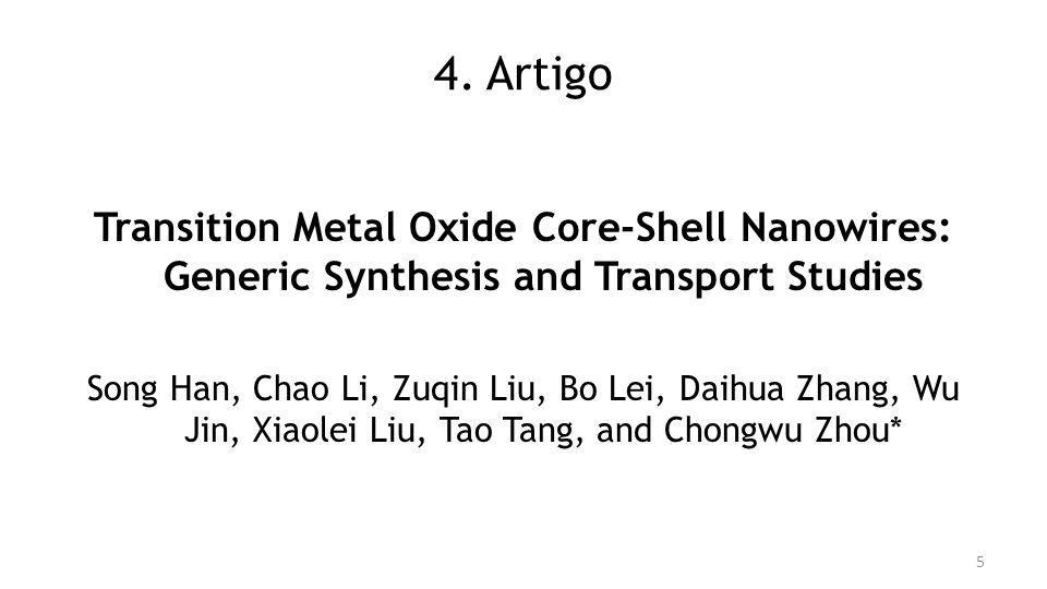 4. Artigo Transition Metal Oxide Core-Shell Nanowires: Generic Synthesis and Transport Studies.