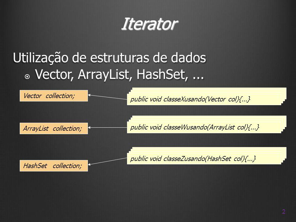 Iterator Utilização de estruturas de dados