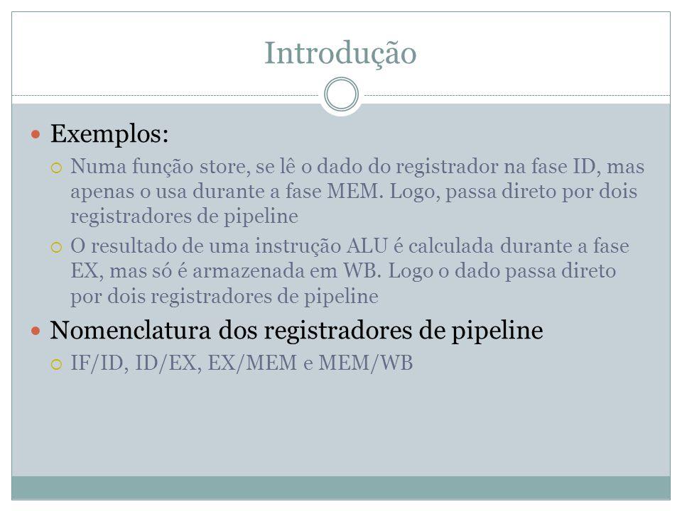 Introdução Exemplos: Nomenclatura dos registradores de pipeline