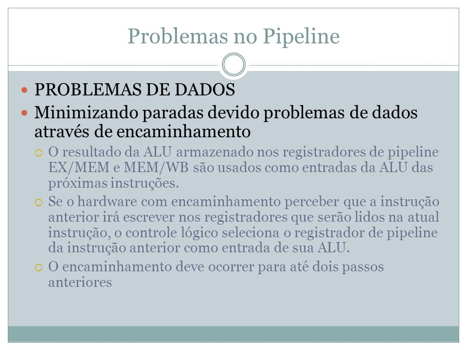 Problemas no Pipeline PROBLEMAS DE DADOS
