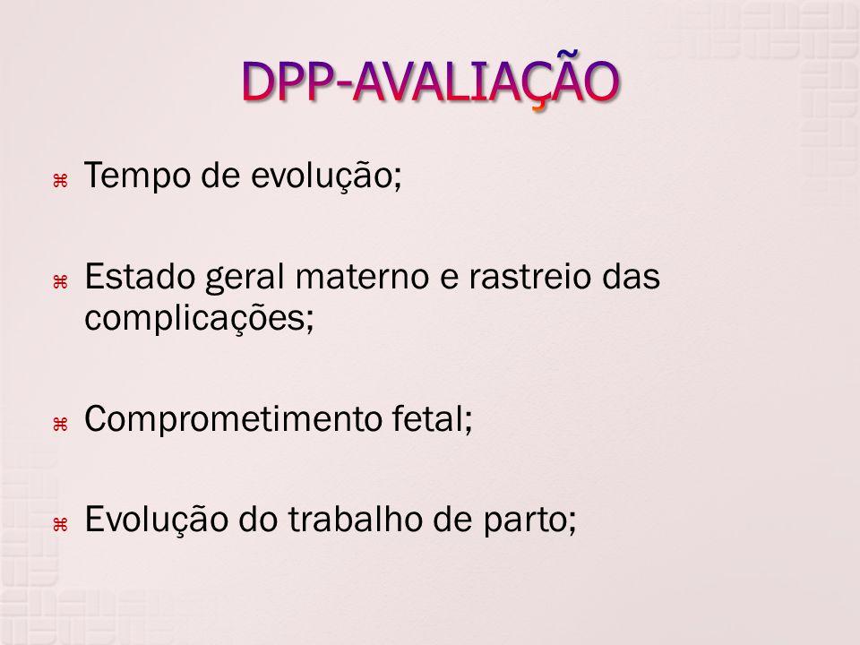 DPP-AVALIAÇÃO Tempo de evolução;