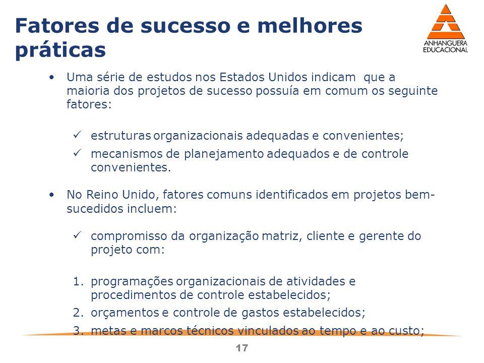 Fatores de sucesso e melhores práticas