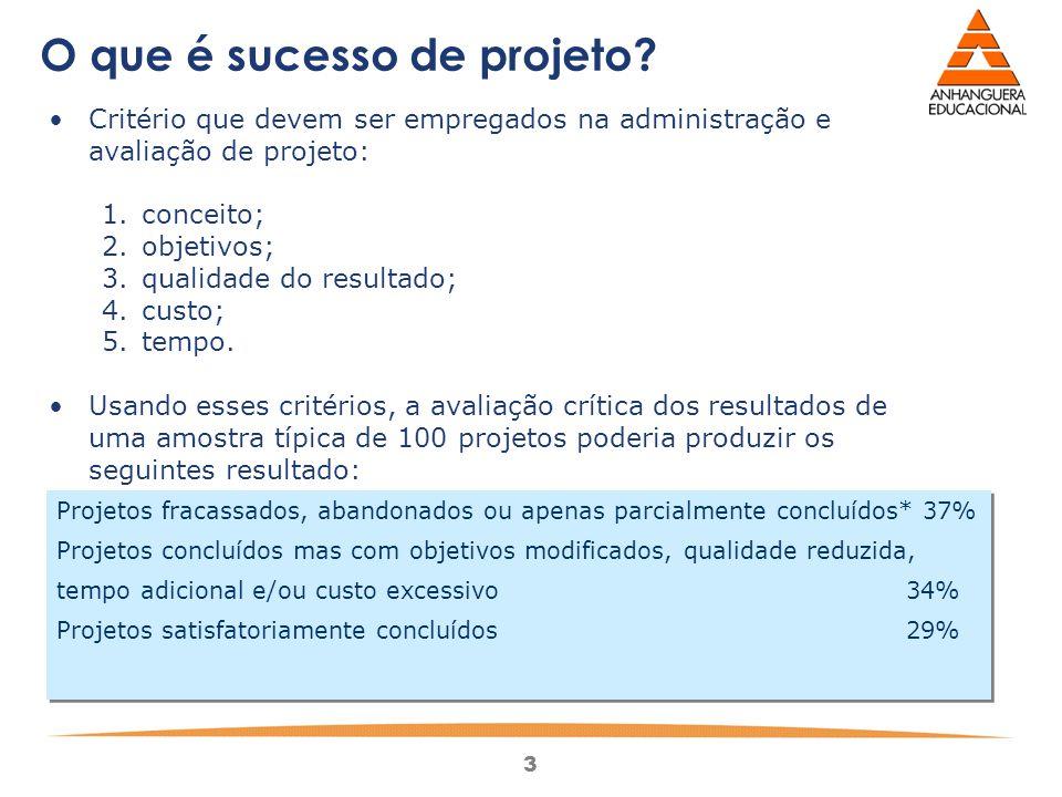 O que é sucesso de projeto
