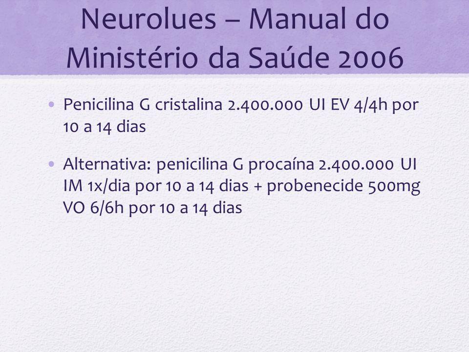 Neurolues – Manual do Ministério da Saúde 2006