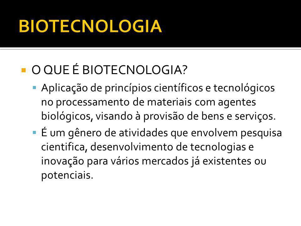 BIOTECNOLOGIA O QUE É BIOTECNOLOGIA