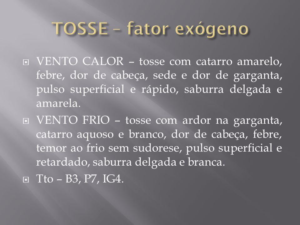 TOSSE – fator exógeno