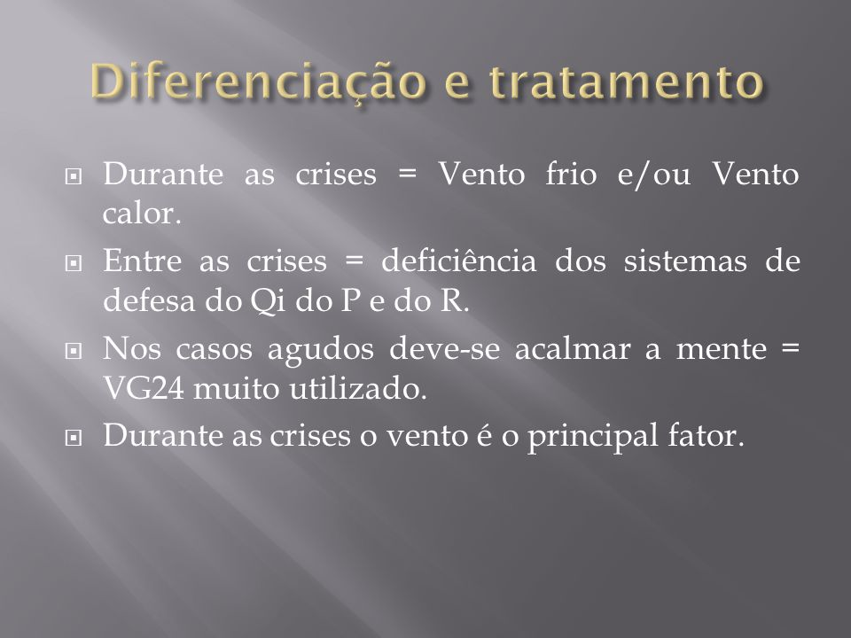 Diferenciação e tratamento