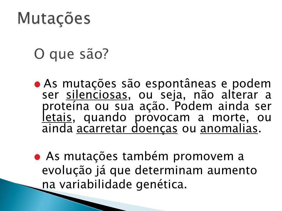 Mutações O que são
