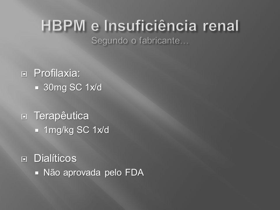 HBPM e Insuficiência renal Segundo o fabricante…