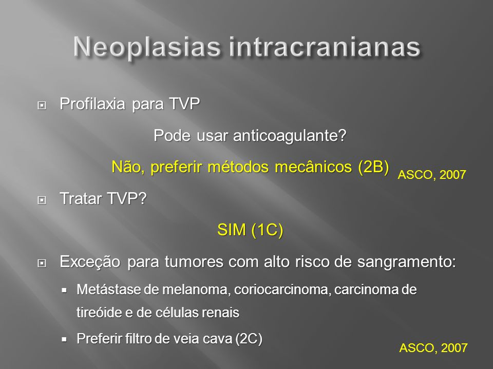 Neoplasias intracranianas
