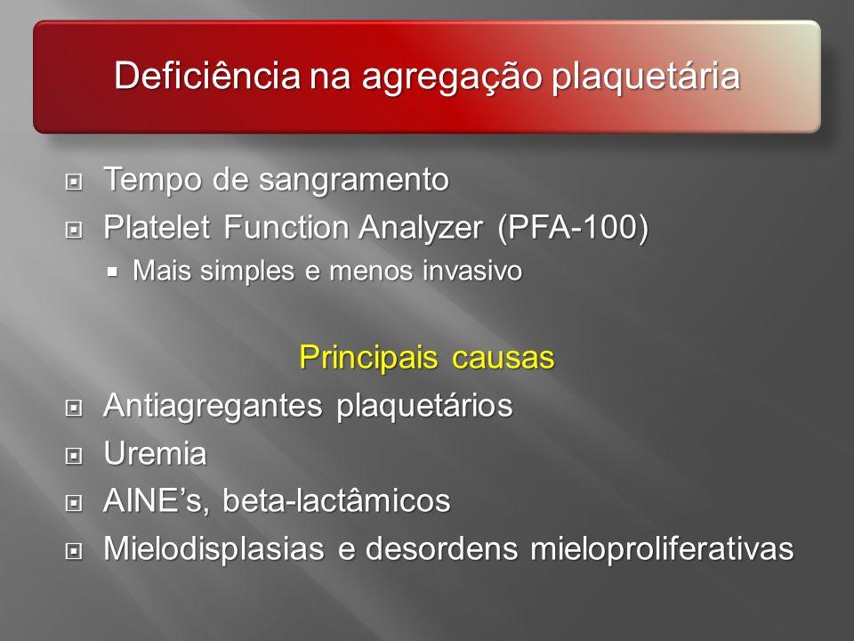 Deficiência na agregação plaquetária