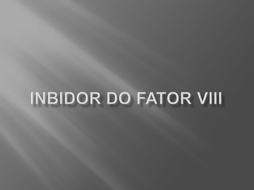 Inbidor do fator VIII
